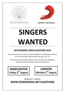 Xenomania & Sony Music - Singer Auditions [l]